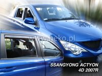 Deflektory SSANGYONG ACTYON / ACTYON SPORTS 4D 2007R ->